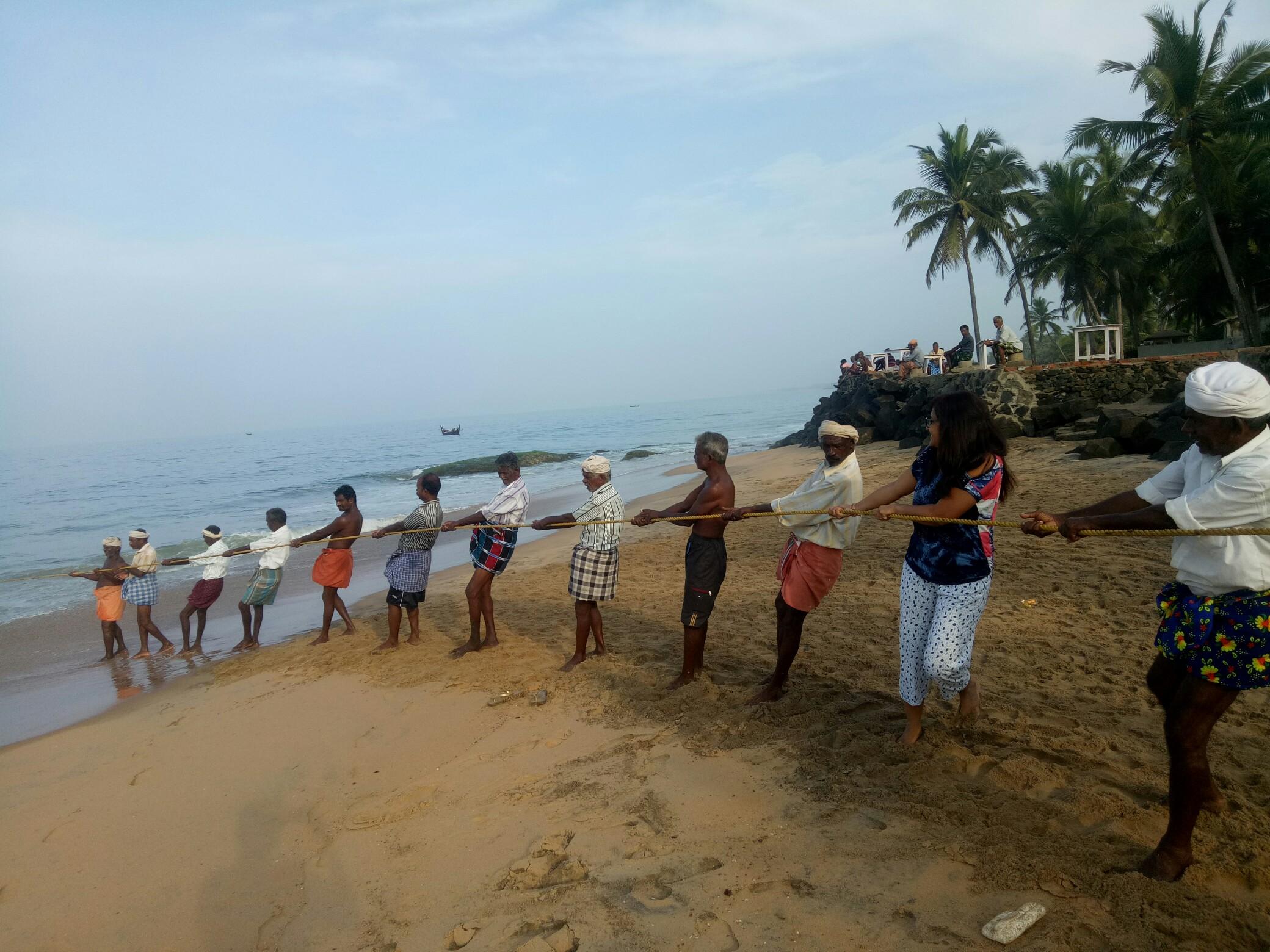 Fishing at samudra Beach